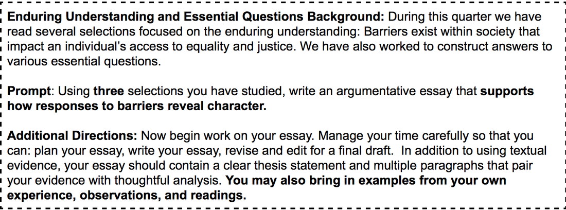 expository essay essential questions